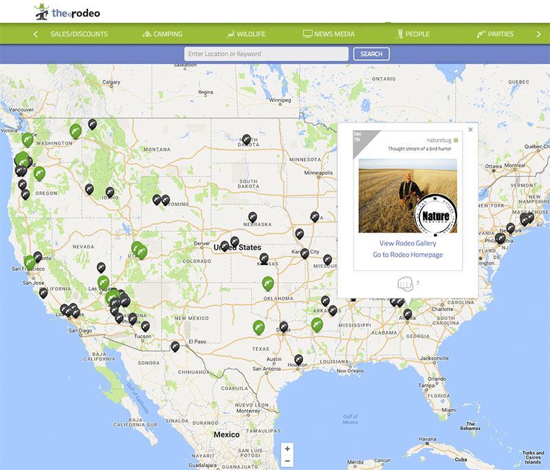 www.The.Rodeo's RODEOFEED: Geo-Location helps engage customers and determine marketing outreach